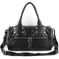 free shipping 2014 100% genuine leather shoulder bag fashion classic black casual messenger bag  cowhide brand handbag for men