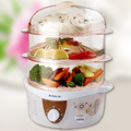 Free shipping household electric steamer three layer electric steamer multi-function large capacity(China (Mainland))