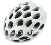 New Fashion Design Honeycomb Shape Bike Hat / Bicycle Safety White Helmet with Visor + Free Shipping
