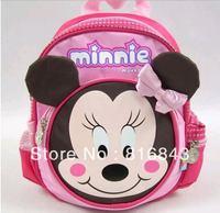 **No Minimum Order** Free Shipping, Lightweight Washable Minnie Girl Children SchoolBag Backpack  BG0005