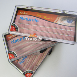 4 Packs Individual False Eyelash Lashes Eyelashes Extension Strips Mix Size 8mm/10mm/12mm Non Knot D-Lash 0.12mm Flares Black(China (Mainland))