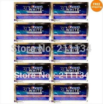 20 strips (10 pouches) Crest 3D Whitestrips Gentle Routine Whitening Strips Sensitive Teeth