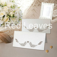 ST0928-12 Hot Sale Laser cutting Bird Place Card on Table 9*9cm 12pcs in an opp bag