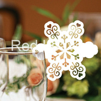 EC1108-15 12pcs/pack Laser Cutting Snow place Card(color and pattern can be customized)