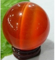 red cat's eye crystal ball Orb ball 40 mm