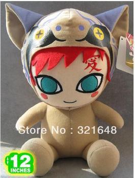 Naruto Gaara Plush Doll NAPL0076 freeshipping