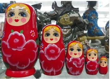 Russian Nesting Dolls Toy Wood 5 PCS Xmas Gift