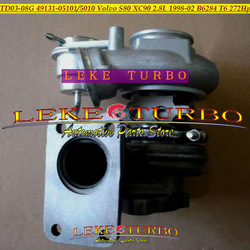 Wholesale NEW TD03 TD03-08G 49131-05010 49131-05101 Turbo For Volvo S80 XC90 2.8L 1998-02 Engine B6284 T6 272HP Turbocharger(China (Mainland))