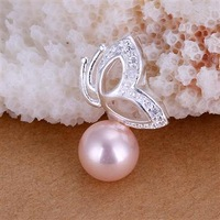 Fast/free shipping wholesale price 3colors pearl butterfly pendant fashion jewelry necklace for women gift 925 silver pendants