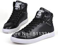 Winter casual male high-top shoes trend shoes fashion popular !  white men Skateboarding Shoes!