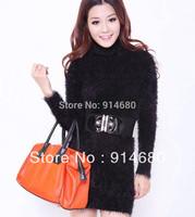 Dropshipping!2014 Autumn turtleneck fashion women sweater dress mohair Pullovers Korea Sweater