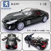 Bburago 1:18 PEUGEOT 907 concept car alloy car model Black