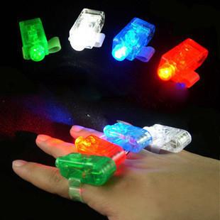 Free Shipping 50 pcs/ lot 4 colors Laser light multi colour laser light ring colorful led finger
