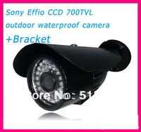 Free Shipping Sony  Effio-e  700TVL 36 LEDs +OSD menu IR 30m  outdoor waterproof CCTV camera  +Bracket .