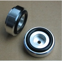 4x Aluminum feets for Power amp (with Rubber ring) D:39mm H:16mm