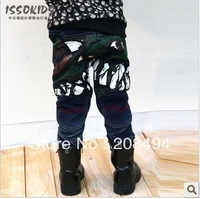 free shipping,4pcs/lot  Hip big monster printing design children jeans.children&#39;s trousers /  pants