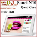 Sanei N10 / sanei N10 Deluxe10.1'' Tablet PC Android 4.0.3 10-point capacitive touch IPS Screen 1280*800 A10 1GB DDR3 16GB BT