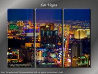 "Framed Huge 3 Panel City Skyline Casino ""Las Vegas"""