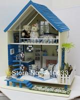 Free shipping Diy romantic aegean sea diy doll house diy wooden toys