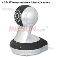 P2P not need mapping H.264 P/T HD Wifi POE IR IP 3.6mm Lens Camera Mobile View  Support two-way voice intercom