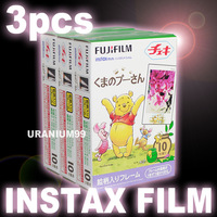 Polaroid Fuji Fujifilm Winnie Instax Mini Film x 3 Pack ( Total 30 sheet photo ) for Instant Camera 7s 8 25 50s 50i 55i