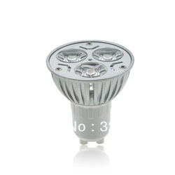 Promotion surprise price! high power LED lamp GU 10 3W,AC 85V-265V In voltage,warm white,cool white GU10 3W LED BULB 330LM(China (Mainland))