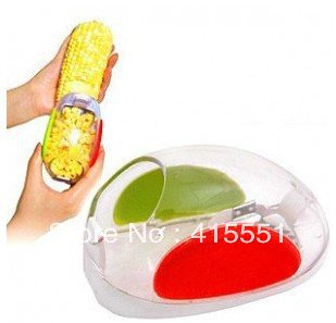 Free Shipping 160pcs/lot Brand New Kitchen Cooking Corn Peeler Stripper Shaver Knife Kernels Cob Remover Cutter