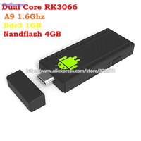 Google Android 4.0 Mini PC RK3066  A9 Dual Core 1.6GHz  HDMI Stick TV Dongle U802 Free shipping