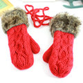 Twisted women's winter handmade knitted thickening thermal fashion halter-neck yarn gloves