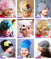 freeshipping/ babys flower Headbands hat/ Childrens Hair Accessories / Flower spring HAT beanie BABY toddler INFANT girls