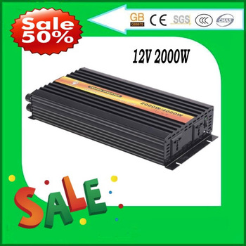 2000W Pure Sine Wave Power Inverter,DC/AC Inverter For Wind/ Solar PV System,DC12/24/48V to AC110-120V, AC220- 240V,CE Approval