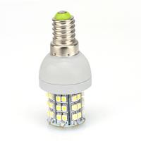 New Arrival 2pcs Energy Saving Lamp E14 3.5W Day white / Warm White 48SMD Led Light Bulb 80059/80060