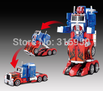New Optimus Prime Transformation Remote Control Robot Deformation Robots Action Figures Robot Truck RC truck electronic Toys