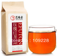 200g Smooth Taste Health Beauty Chinese Organic Red Tea Bags With Rose YFT