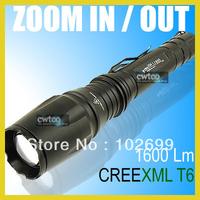 KEYGOS Z16 1600 Lumens CREE XML XM-L T6 LED Zoomable Flashlight Torch