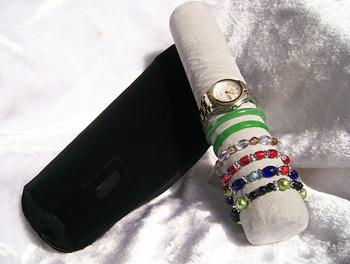 Watch Display Jewelry Organizer Travel Storage Roll Organize Watches Bracelet Bangle 2013 New  Retail Jewelry Display Stands
