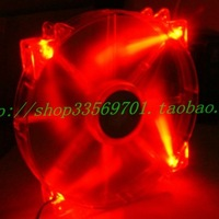 Cooler master 20cm computer case silent fan red led red light megaflow 200