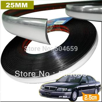 25mmx15m Car Chrome Styling Body strip Auto Decoration Interior Exterior  Accessories