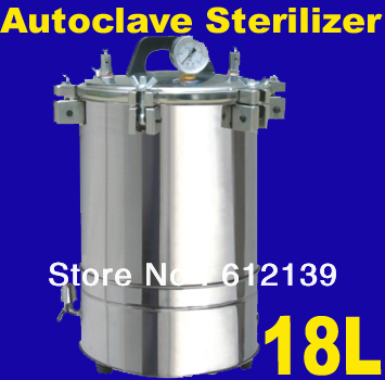 18L Portable type stainless steel pressure steam Autoclave sterilizer auto claves XFS-280B(General)(China (Mainland))