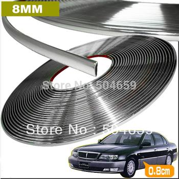 8mmx15m Chrome Styling Body strip Auto Interior Exterior  Decorative Accessories