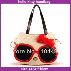 big larger cool fashion style hello kitty women tote handbag ladies's women's party pu leather bag free shipping(China (Mainland))