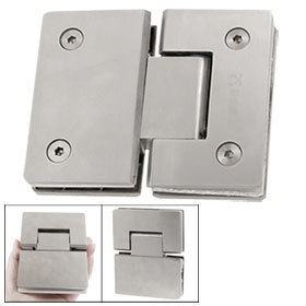 Stainless Steel Beveled Edge Shower Door Hinge for 8-12mm Thickness Glass Free shipping