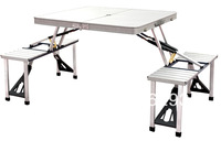 ALUMINIUM PICNIC TABLE WITH CHAIR FOR OUTDOOR