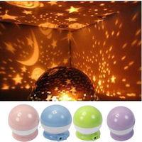 New Beautiful Rotation Star Sky Romantic Night Projector Light Lamp