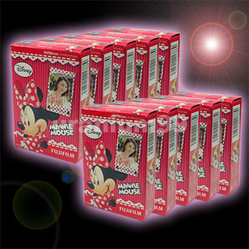 Polaroid Fuji Fujifilm Minnie Mouse Instax Mini Film 10 packs ( 100 sheets photo ) for Instant Camera 7s 25 50s 50i 55i