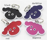 Pet Dog Tags Glitter Enamel Custom Engraved Pet Tag Dog Tag 4 Colors Dog Design