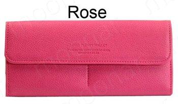 women's PU envelope clutch bag ladies' Faxu Leather wallets ladies purses Checkbook Handbag drop shipping Free Shipping W1263