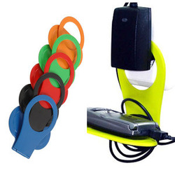 Brand New Linked Wall Charging Rack Holder for Cell Phone Charger Colorful A1525(China (Mainland))