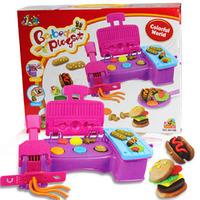 3d dough plasticine hamburger extrusion machine mould,child puzzle diy toy