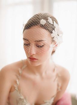 F006 - Fashion Ivory Lace Bridal Wedding Accessories  decoration short Veil hair mantilla lace birdcage veil Wholesale New 2013